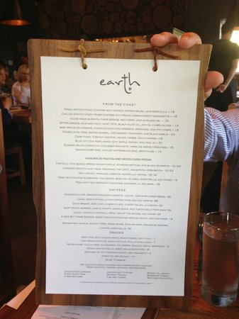 Earth : Even the menu is a delight!