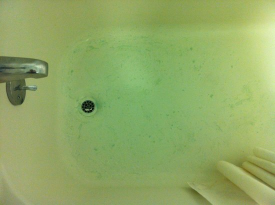 Howard Johnson Inn - Sandusky Park N. Entrance: This was our bathtub at the state of check-in. Disgusting.