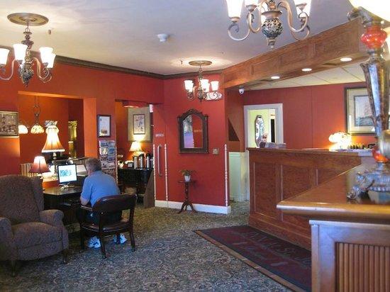 Inn at St. John: Lobby view with The Inn's internet access