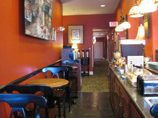 Inn at St. John: Breakfast Nook off Lobby