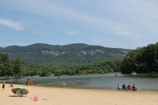 Beach at Lake Lure & Water Works : Lake lure beach 2012