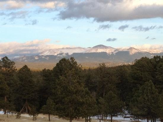 The Nature Place: View of Pikes Peak from the Nature Center in March.