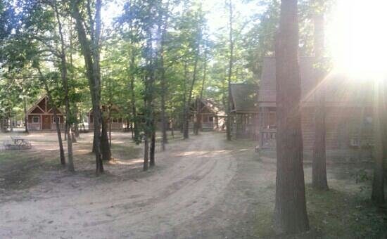 Double JJ Resort: The Back Forty cabins, from cabin 38.
