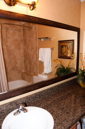 Holiday Inn Club Vacations Mount Ascutney Resort: one of the upstairs bathrooms