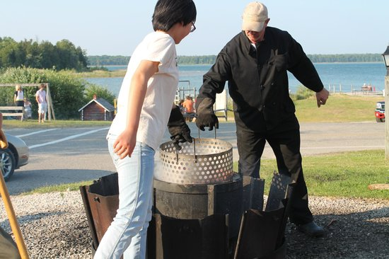 Rowleys Bay Restaurant and Fish Boil: only one part of the Fish Boil cooking