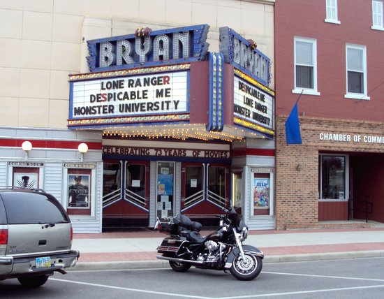 Bryan Theatre (and our Harley)