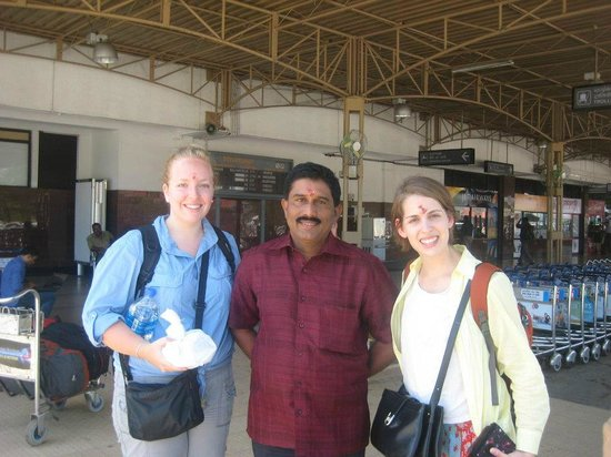 Aagaman Inn Homestay: At the airport with Pradeep