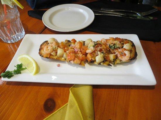 The Old Fish Factory Restaurant: Seafood bruschetta