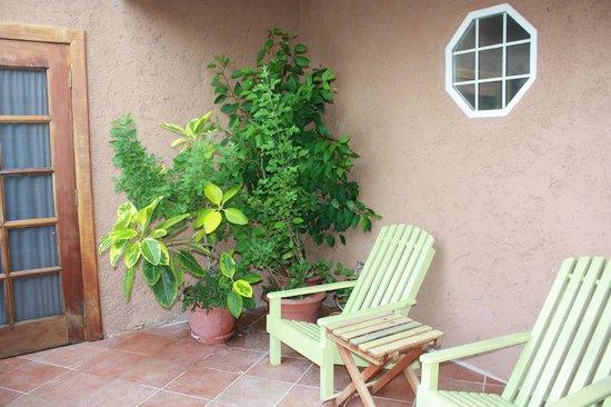 Caye Casa: The patio