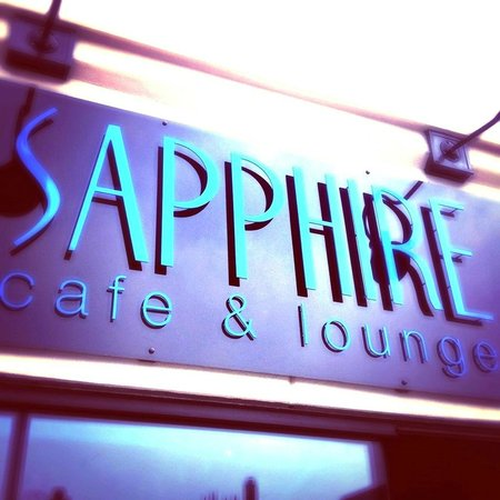 Sapphire Cafe & Lounge: Sapphire Sign!