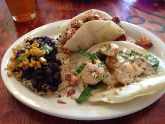 Outside picture of cabo fish taco baja seagrill for Baja fish tacos menu