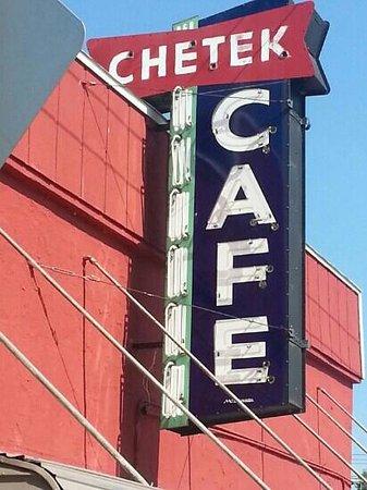 Chetek Cafe & Meat Shop : The sign