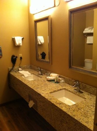 Meadow Lake Resort: the newly renovated bathroom