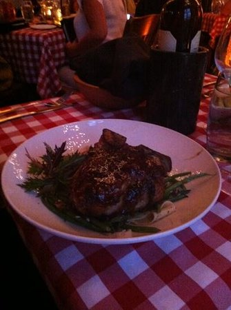 Buca's Tuscan Roadhouse: veal chop special - huge portion!!