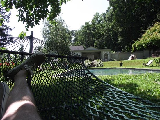 RiverView Bed & Breakfast : Relaxing in hammock, hey where's my Mojito?