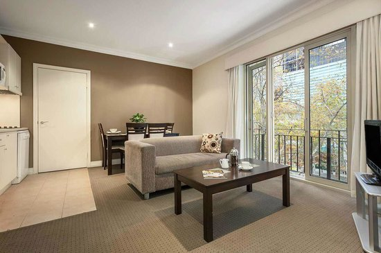 Quest on Lonsdale: One Bedroom Lounge Room