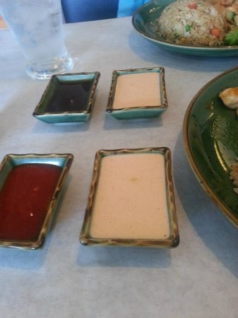 Hana Teppanyaki House : Japanese Mayonnaise and Hot Sauce