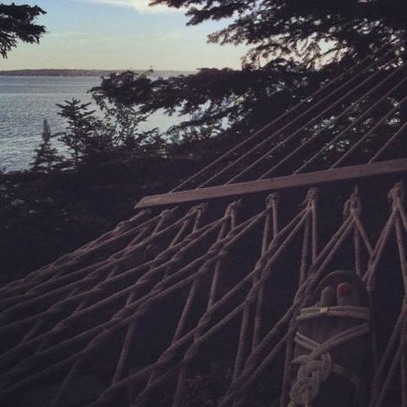 Inn at Bay Ledge: Laying on the hammock enjoying the view