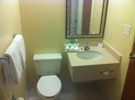 Holiday Inn Express Branson - Green Mountain Drive : Sink less than three rolled washclothes wide at the widest point