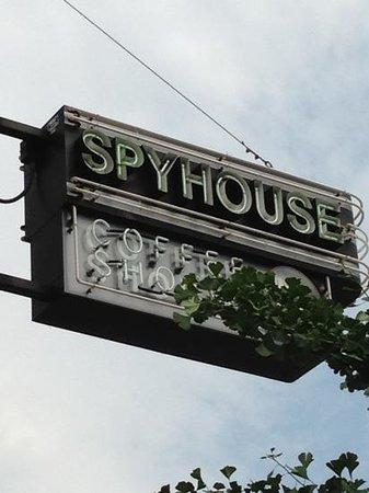 Spyhouse Coffee Shop: sign