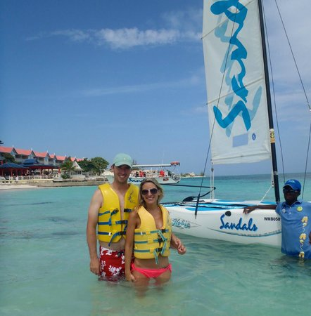 Sandals Montego Bay: One of the many free toys! Hobie Cats