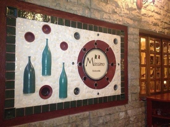 Da Massimo Restaurante Italiano : Mosaico en la terraza.