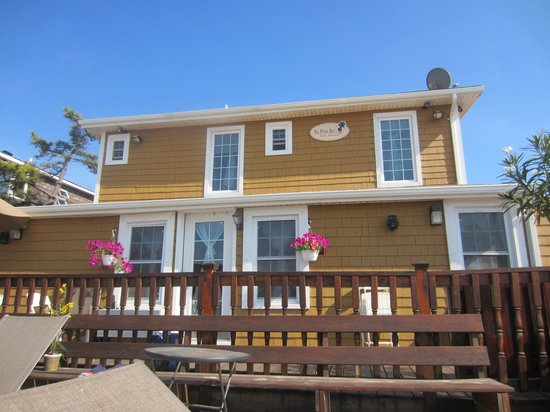 The Palms Hotel Fire Island: The bak part of The Palms Bay East