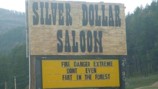 Silver Dollar Saloon : Look for The Marquee!