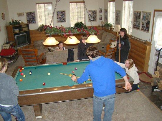 Alaska's Harvest B&B: Pool table in family room