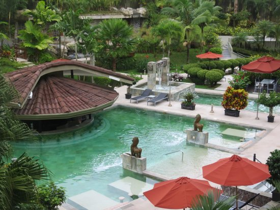 The Royal Corin Thermal Water Spa & Resort: Room view of hot springs..