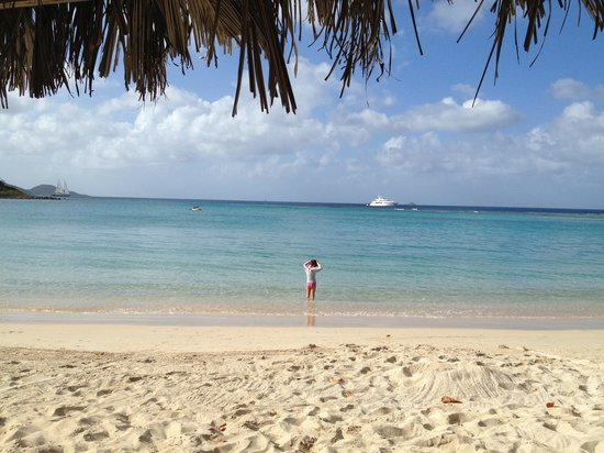 "Rosewood Little Dix Bay: ""crowded"" at the pristine beach"