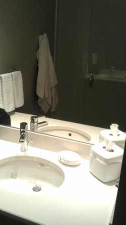 SpringHill Suites Columbus OSU: Sink in shower room