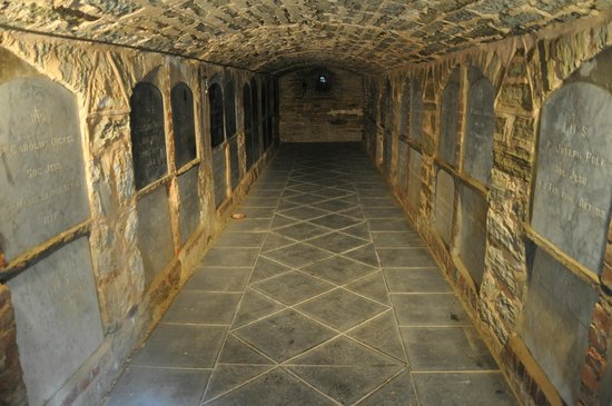 Sevenhill Cellars: The crypt under the St Aloysius Church for interred Priests and Brothers.