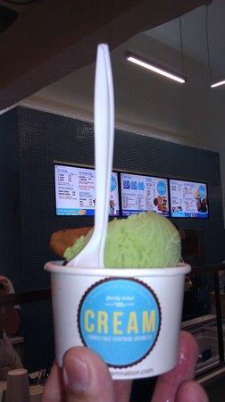 one scoop of ice cream!