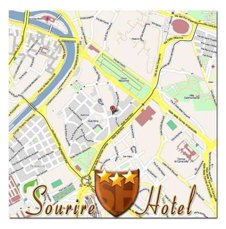 Sourire Hotel: Mappa