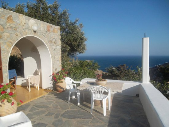 Apostolis Windmill: The very private patio