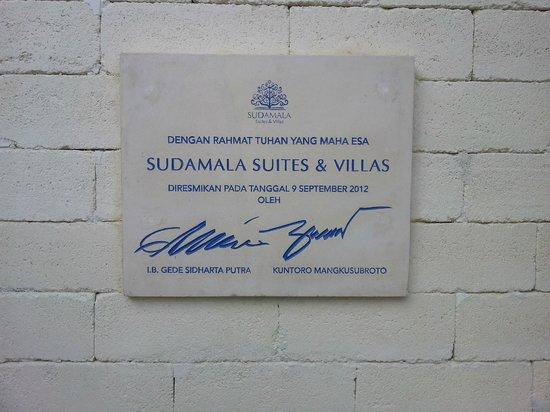 Sudamala Suites & Villas: Foundation stone