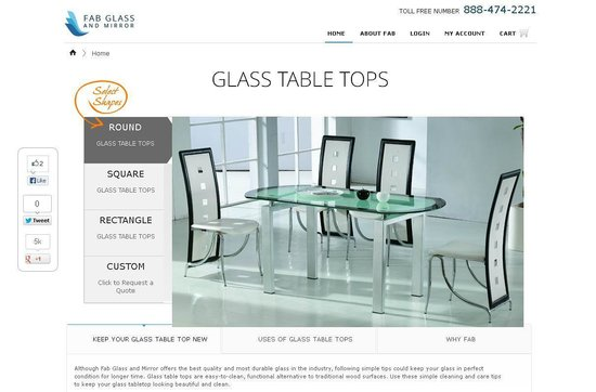 Glass Table Tops by Fab Glass and mirror +1-888-474-2221 ...