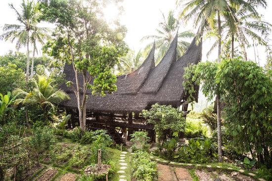 Bambu Indah: Minang House and permaculture gardens.