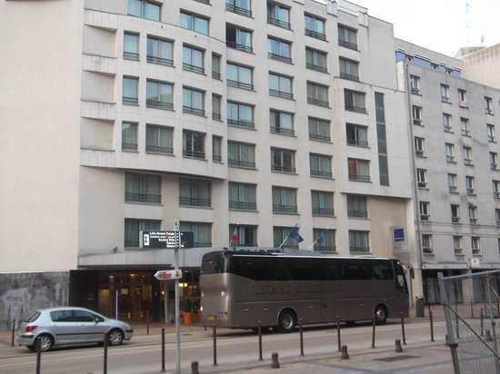 Novotel Lille Centre Gares : THE HOTEL WITH THOMAS THE RHONDDA S COACH THAT WE TRAVELLED IN , IN FRONT.