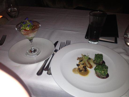 1907 Restaurant: Lovely Crab & Venison Entree
