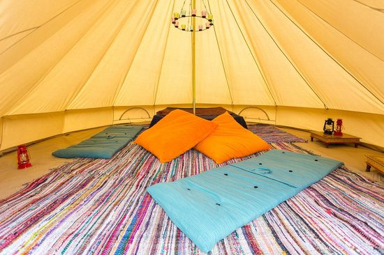 Cobbleacre Lakes: Inside a Bell Tent