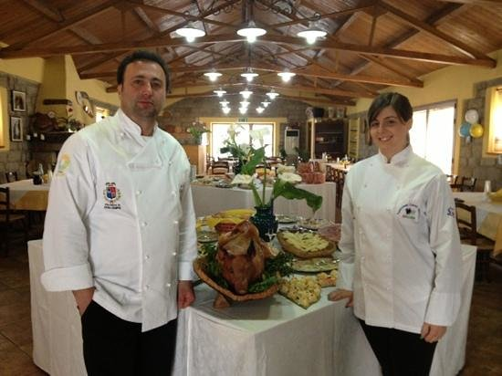 Ristorante-Pizzeria Li Tre Funtani: Buffet a Li Tre Funtani