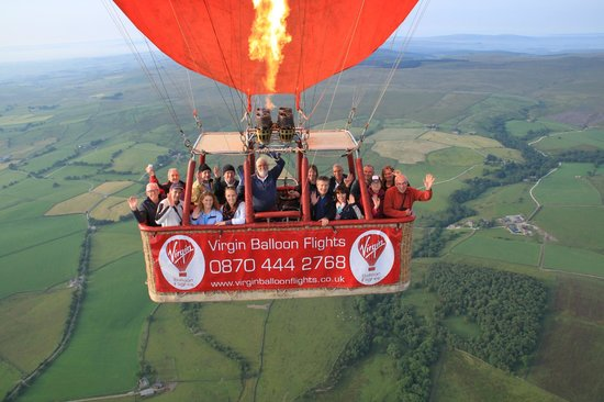 Virgin Balloon Flights - Burton in Lonsdale: Balloon over Burton