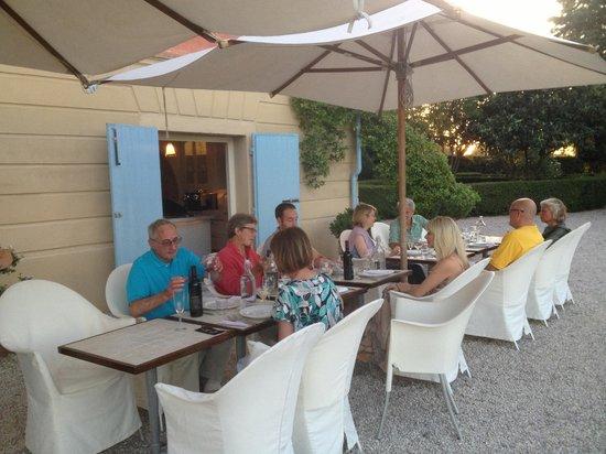 Villa Fontelunga: dinner