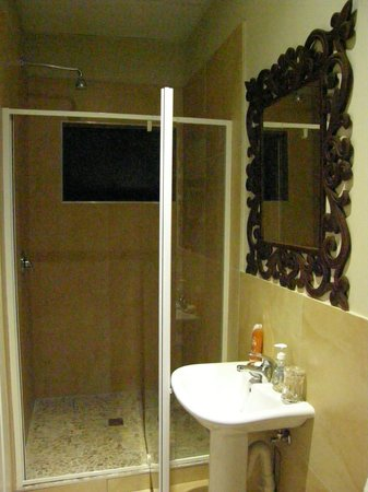 Zimbali View Eco Guesthouse: Spacious Shower with Seaviews !
