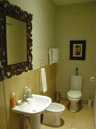 Zimbali View Eco Guesthouse: Bathroom with Basin, Bidet and Loo