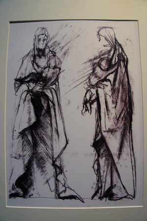 Sketches by Harold Gosney at Ripon Cathedral