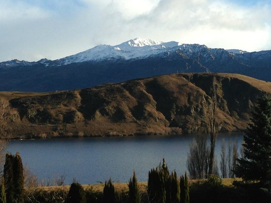 The Turret: Your view - Lake Hayes in the foreground, Coronet Peak in the background