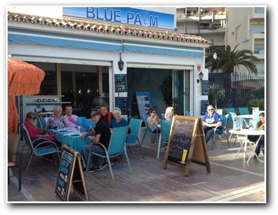 Blue Palm: Afternoon Cocktails on the Paseo Maritimo Marbella Spain